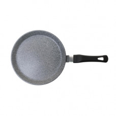 Сковорода литая из алюминия блинная 22см (гранит серый)