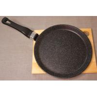 Сковорода литая из алюминия блинная 22см (мрамор)