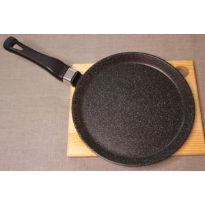 Сковорода литая из алюминия блинная 24см (мрамор)
