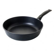 Сковорода литая из алюминия 22см(черный), 5мм/3,5мм, ручка несъёмная
