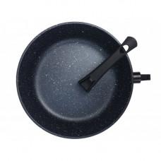 Сковорода литая из алюминия 22см(мрамор), 6мм/4мм, ручка съёмная