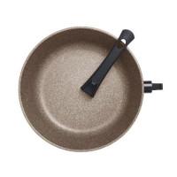 Сковорода литая из алюминия 20см(гранит коричневый), 5мм/3,5мм, ручка съёмная